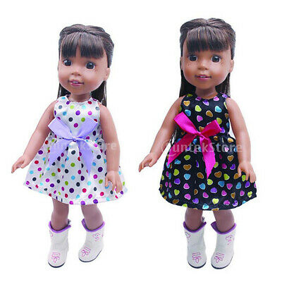 2PCS Dolls Dress Clothes for 14 inch AG American Doll Doll Dress Skirt Outfits