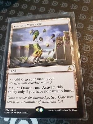 1x MTG Sea Gate Wreckage Oath of the Gatewatch NM-Mint nbp NoW