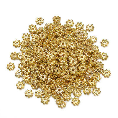 500PCS Alloy Spacer Beads For DIY Jewelry Making Lead Free Flower Golden 4.5mm