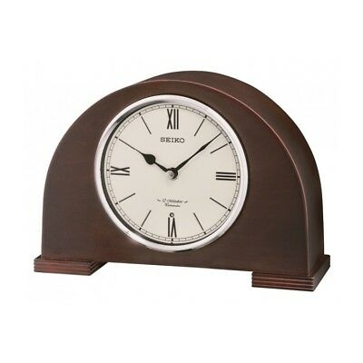 Seiko Clocks Arched Wooden Mantle Clock Westminster Chime QXW239B