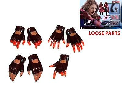 1/6 Scale HOT TOYS (MMS370) SCARLET WITCH - FULL HANDS SET ONLY!!!