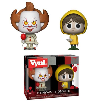 "NEW Funko Vynl. Pennywise + Georgie from ""IT"" Vinyl Figures - NIB"