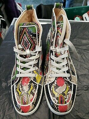 outlet store 86f6d b4856 CHRISTIAN LOUBOUTIN SNAKESKIN Mens Shoes High Top Size 12 PreOwned