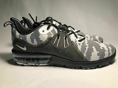 brand new aa263 5c828 Nike Air Max Sequent 3 Prem Mens Running Black White Camo AR0251 001 Multi  Size