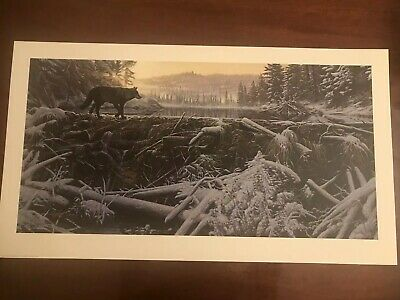 """Stephen Lyman Signed Numbered  Limited Edition """"The Crossing"""" 1995 - Beautiful!"""