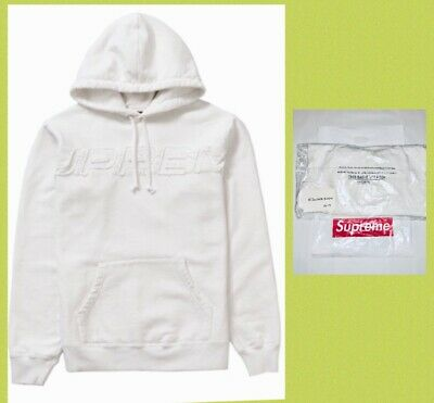 de18c1159597 NEW Supreme White Limited Edition Hooded Sweatshirt Hoodie Size Mens Large  w Bag