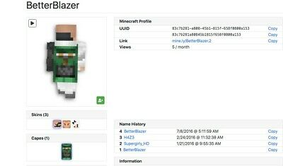 MINECRAFT MINECON 2013 Cape Account