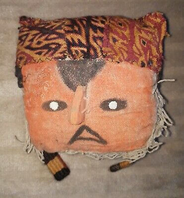 Chancay Pre-Columbian Mummy Textile Burial Mask