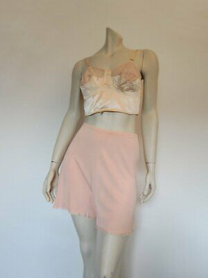 French Knickers, Tap Pants, Scanties - Peach - 1940s - Medium