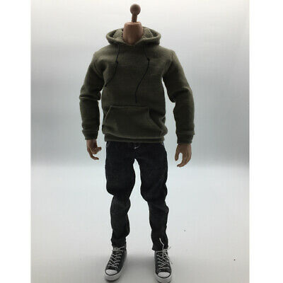 1:6 Army Green Hoodie Jeans Clothes Set Shoes For 12'' Hot Toys Male Figure
