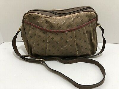 Gucci Vintage Monogram GG Brown Purse Bag Parts