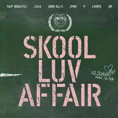 "SJmusic [BTS] ""SKOOL LUV AFFAIR"" 2nd Mini Album CD+BookLET+PhotoCard, SEALED"