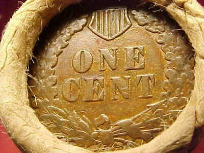 Old Roll Lincoln Wheat Cent Penny Indian Head Reverse Both Ends Obw Pristine++