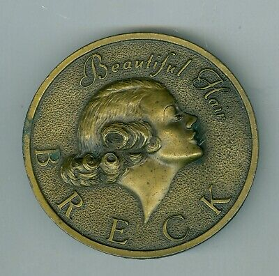 Unusual 1976 Breck Hair Products, Beautiful Hair Brass Belt Buckle