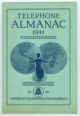1941 Bell System, American Telephone & Telegraph Co. AT&T Almanac, 32 Pages