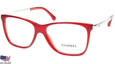 1c42a682a55d NEW CHANEL 3366 c.1611 RED EYEGLASSES GLASSES FRAME 52-14-140 B41mm