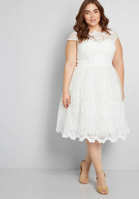 c842d3bf734 NWT Chi Chi London Modcloth Exquisite Elegance Lace Dress Wedding White US  18