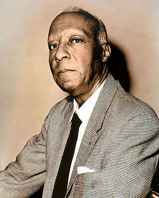 """A. PHILIP RANDOLPH AFRICAN AMERICAN CIVIL RIGHTS 8x10"""" HAND COLOR TINTED PHOTO"""