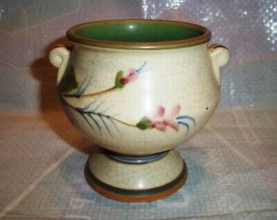 Beautiful Early Antique WELLER POTTERY 3.5 Inch Floral Vase Planter Pot Vintage