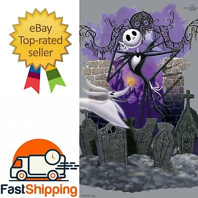 Zero The Nightmare Before Christmas Wall Art Watercolor Poster Print UNFRAMED