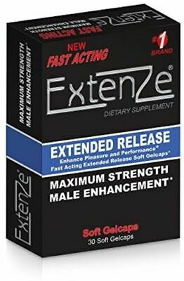 ExtenZe Extended Release - 30 Liquid Gel Capsules - Damaged Boxes - Exp: 03/2020