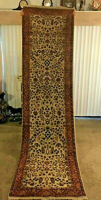 Fine Quality Genuine Antique Large Wool Hand knotted Persian Rug Carpet Runner