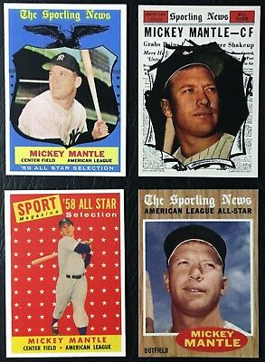 Mickey Mantle Baseball Card Lot New York Yankees 1958 1959 1961