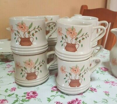 8 x Countryside Collection Stoneware Mugs- vintage collection
