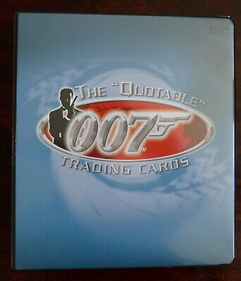 James Bond Trading Cards The Quotable  Base Set Chase & Promo Set & Binder
