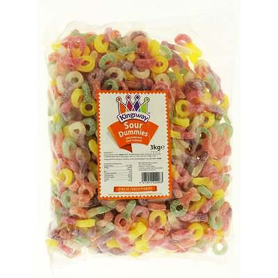 Kingsway Fizzy Sour Dummies Party Wedding Retro Sweets Jellies/Gums/Chews