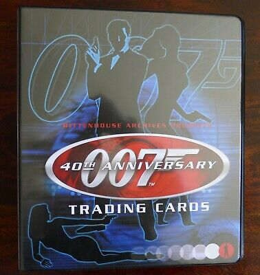James Bond Trading Cards Binder With Excl Patrick Macnee Costume Card & Promos