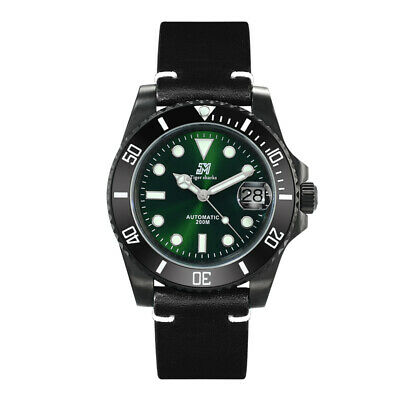 San Martin Men Vintage Automatic watches Stainless Steel Diver Watch Sapphire