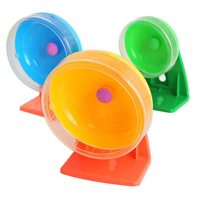 Pet Hamster Mouse Guinea Pig Exercise Silent Running Wheel Activity Toy 11-16cm