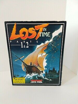 Lost In Time Parts 1 & 2 Macintosh Big Box Adventure Game Complete Coktel Vision