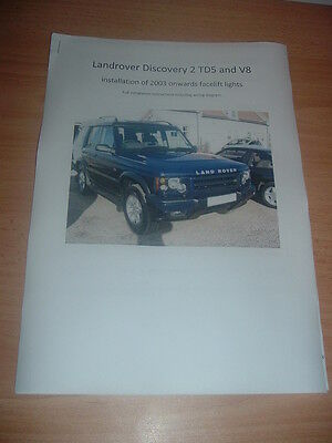 landrover discovery td5 v8 headlight headlamp facelift wiring diagram manual