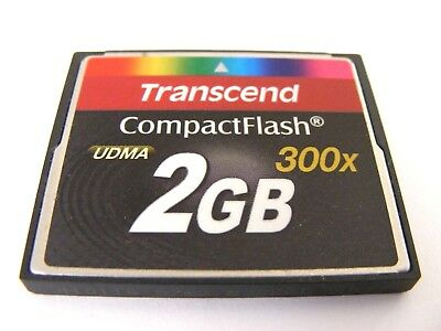 2GB Compact Flash Card 300x  UDMA ( 2 GB CF Karte ) TRANSCEND gebraucht