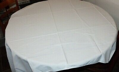 Large Stamped Pattern Embroidery & X Stitch White Tablecloth  - New Unworked
