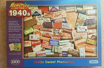 GIBSONS PUZZLE ''1940's SWEET BOX MEMORIES'' 1000 PIECES In excellent condition
