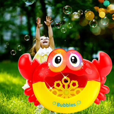 Bath Toys Bubble Blower Cute Kids With Light Music Birthday Gifts Maker Crabs