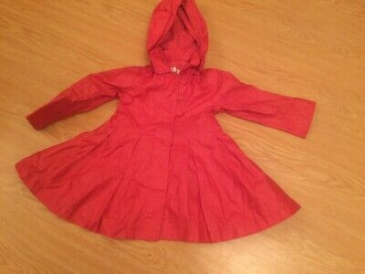 Jasper Conran Girls Coat Age 3 Years Debenhams Raincoat Style Traditional.k