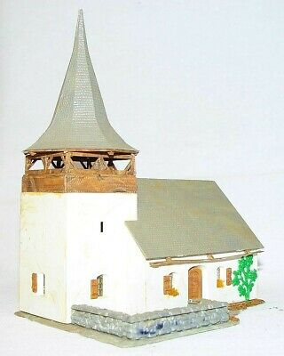 Kibri HO 1:87 Historic MEDIEVAL COUNTRYSIDE CHURCH BUILDING Ready Built Kit NM!
