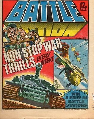 Battle Action June 1980 Uk War Comic Good Condition See Scan