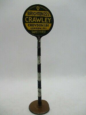 Vintage Britains Pre War 1925 Aa Sign Crawley  From Set 239 Rare