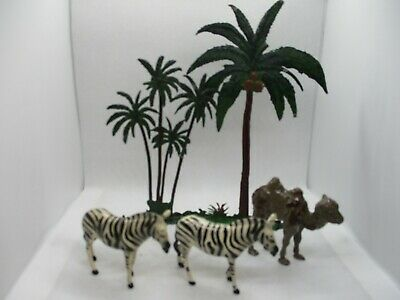 Vintage Britains Lead Palm Trees Zebras And Camel