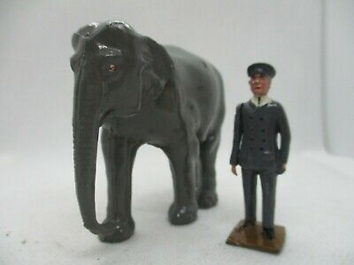 Vintage Britains Lead Zoo Keeper With Elephant