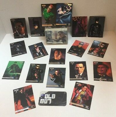 Batman Forever Muy 1-120 Carta Juego 1-36 Hologram 1-10 Animaction Ranuras 1995