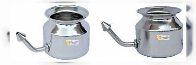 Neti Pots & Cleansers Natural & Alternative Remedies Responsible Stainless Steel Neti Pot For Sinus Congestion Saral Yog Jala Neti Studed 450 Ml
