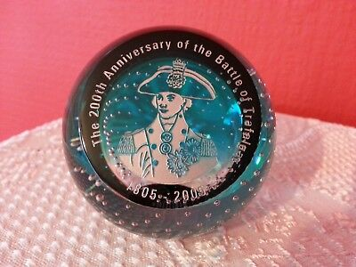 Caithness Glass 200th Anniv. Battle of Trafalgar Paperweight Limited Edition