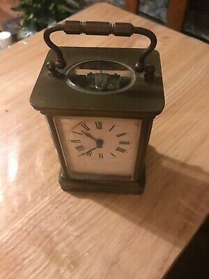 antique brass carriage clock English