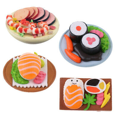 Miniature Japanese Food Roll Sushi for Dollhouse Kitchen Decoration 1:12
